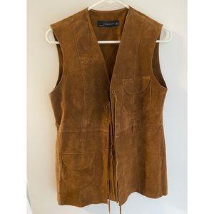 Zara brown suede vest